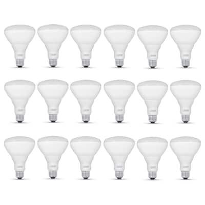 65-Watt Equivalent BR30 Dimmable CEC Compliant E26 LED Flood Light Bulb, Soft White (18-Pack)