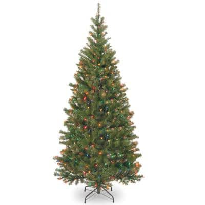 6 ft. Aspen Spruce Artificial Christmas Tree with Multicolor Lights