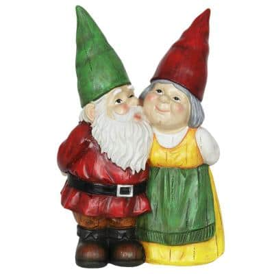 Couple Gnome Garden Statue