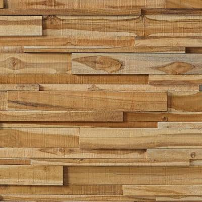 0.98 in. x 3.94 in. x 30.71 in. Asian Teak Jointless Common Plank (18-Pack)