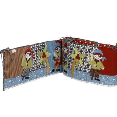Pirates Cover Cotton 4-Sectional Crib Bumper Pads