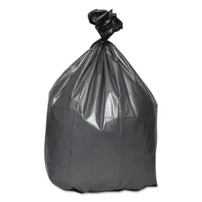 30 in. x 36 in. 30 Gal. 1.35 mil Gray Trash Can Liners (10-Bags/Roll, 10-Rolls/Carton)