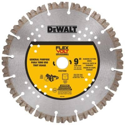 Flexvolt 9 in. Diamond Concrete Cutting Cut-Off Saw Blade