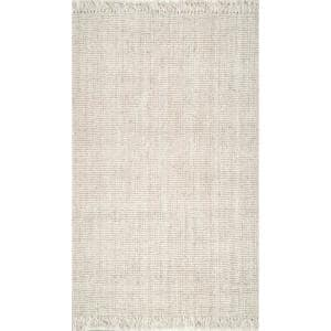 Natura Chunky Loop Jute Off-White 12 ft. x 15 ft. Area Rug