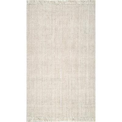 Natura Chunky Loop Jute Off-White 10 ft. x 14 ft. Area Rug