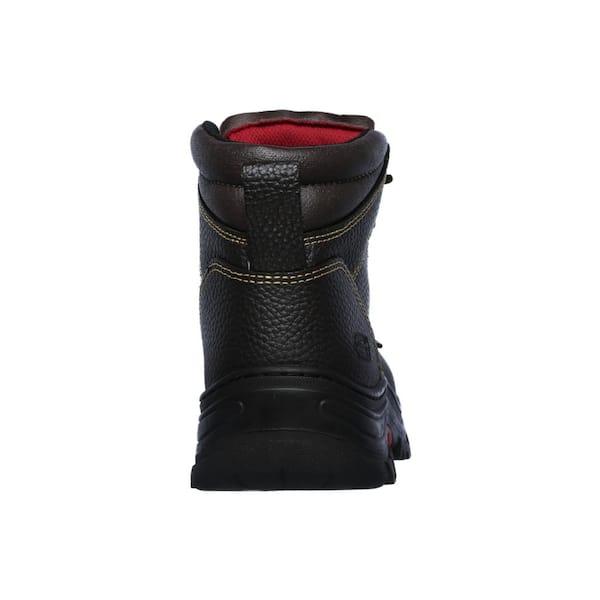Skechers Men S Burgin 6 Work Boots Steel Toe Brown Size 11 W 77143w 11 The Home Depot