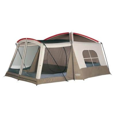 Klondike 16 ft. x 11 ft. Large 8-Person Screen Room Outdoor Camping Tent in Brown