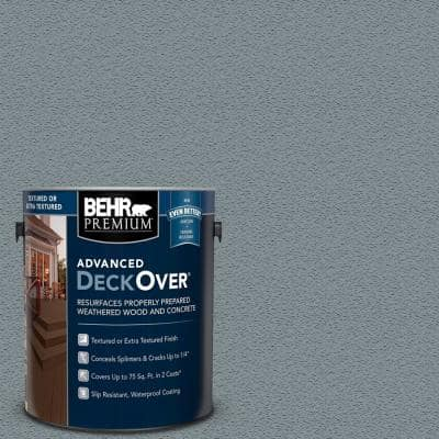 1 gal. #SC-119 Colony Blue Textured Solid Color Exterior Wood and Concrete Coating