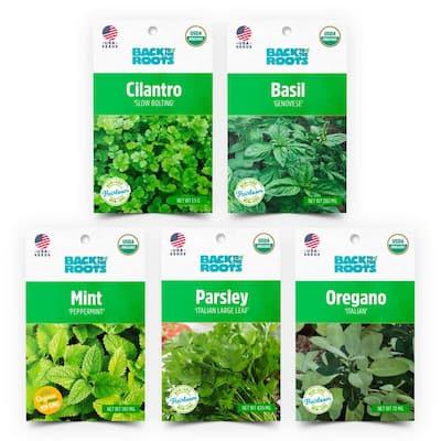 Organic Herb Seeds Variety (5-Pack)