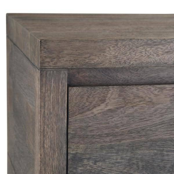 Simpli Home Cornell 56 In Barnwood Brown Rectangle Wood Console Table With Drawers Axccor 03 The Home Depot