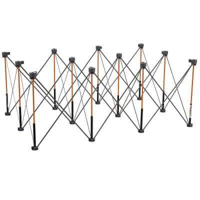 30 in. x 48 in. x 72 in. Steel Centipede Work Support Sawhorse with Accessories