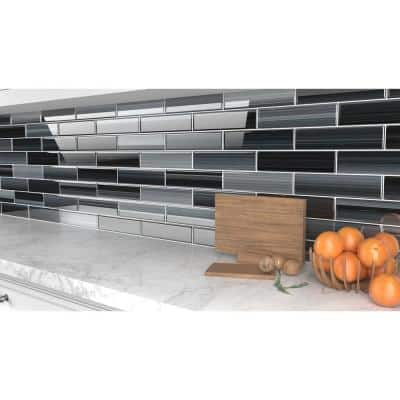 Late Night 3 in. x 12 in. Glass Tile for Kitchen Backsplash and Showers (10 sq. ft./per Box)