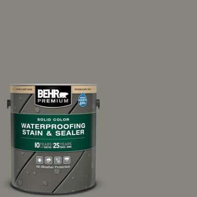 1 gal. #SC-137 Drift Gray Solid Color Waterproofing Exterior Wood Stain and Sealer