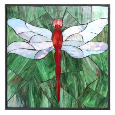 1 in. x 12 in. x 12 in. Square Polypropylene Dragonfly Decorative Garden Step Stone