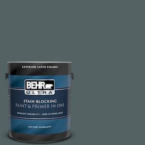 Behr Ultra 1 Gal Home Decorators Collection Hdc Ac 25 Blue Metal Satin Enamel Exterior Paint Primer 985301 The Home Depot