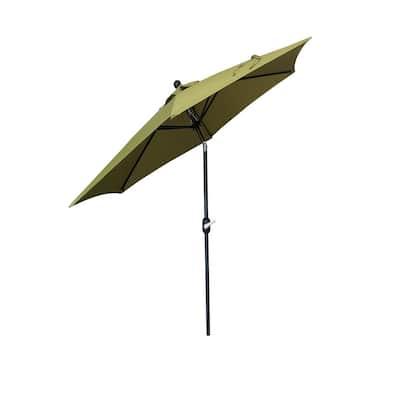 9 ft. Outdoor Market Patio Umbrella with Crank/Tilt in Olive