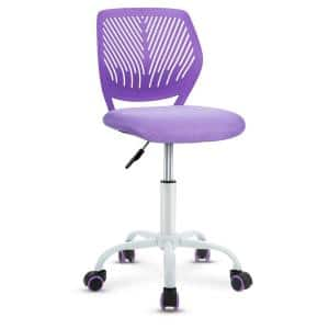 Purple Adjustable Height Mid Back Task Chair with Armless