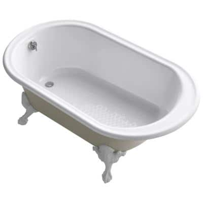 Iron Works Historic 66 in. Clawfoot Reversible Drain Cast Iron Soaking Bathtub in White