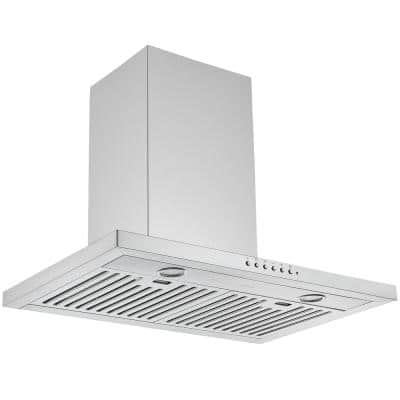 WPL630 30 in. 650 CFM Convertible Wall Mounted Range Hood in Stainless Steel with Night Light Feature