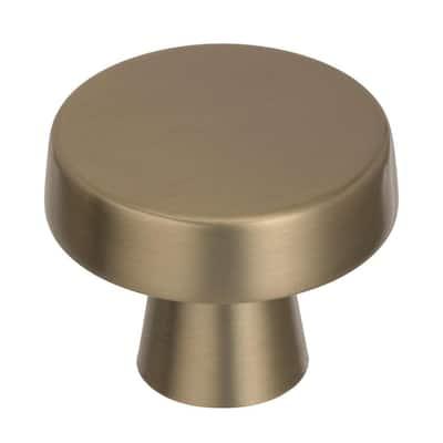 Blackrock 1-5/8 in. Dia (44 mm) Golden Champagne Cabinet Knob