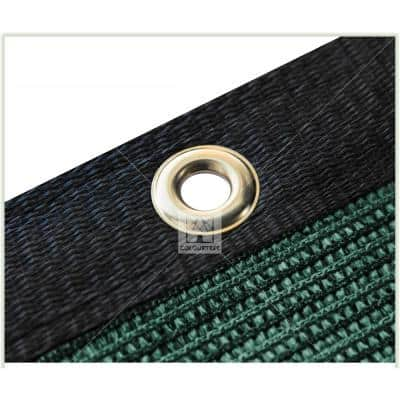 5 ft. x 25 ft. Green Privacy Fence Screen Mesh Fabric Cover Windscreen with Reinforced Grommets for Garden Fence