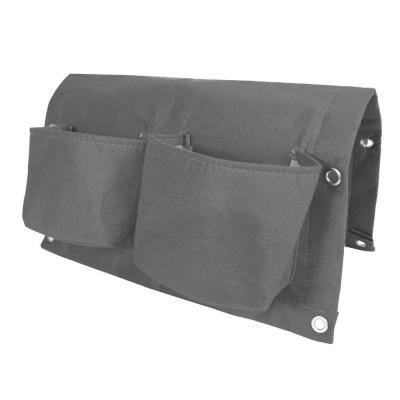 BloemBagz Deck Rail 4-Pocket Hanging Planter Bag  Peppercorn