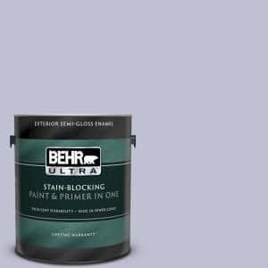 Behr Ultra 1 Gal S560 2 Lavender Honor Semi Gloss Enamel Exterior Paint And Primer In One 585001 The Home Depot