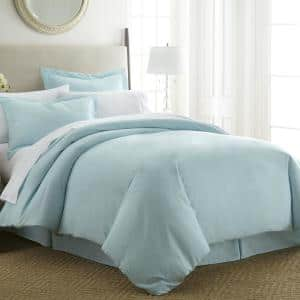 Performance Aqua Twin 3-Piece Duvet Cover Set