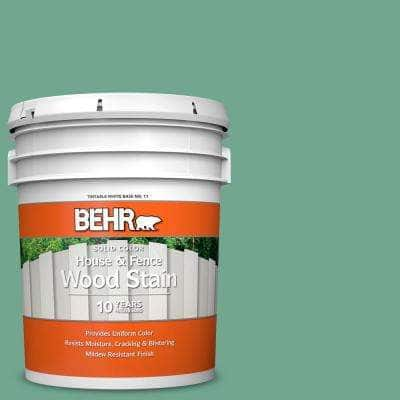 5 gal. #M420-5 Free Green Solid Color House and Fence Exterior Wood Stain