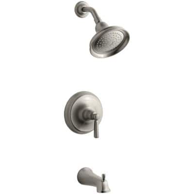 Bancroft 1-Handle 1-Spray 2.5 GPM Tub and Shower Faucet in Vibrant Brushed Nickel