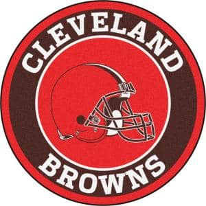 NFL Cleveland Browns Brown 2 ft. Round Area Rug