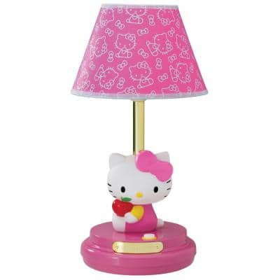 16.5 in. Table Lamp in Pink