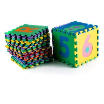 96-Piece Alphabet and Number Puzzle Foam Floor Playmat