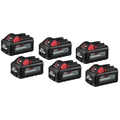 M18 18-Volt Lithium-Ion High Output 6.0Ah Battery Pack (6-Pack)