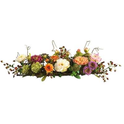 3 ft. Peony Centerpiece Silk Flower Arrangement