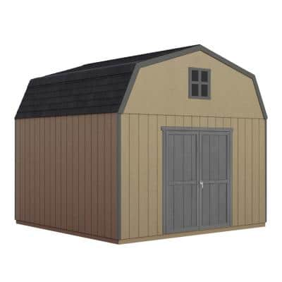 Do-it Yourself Hudson 12 ft. x 12 ft. Wooden Storage Shed for Existing Cement Pad