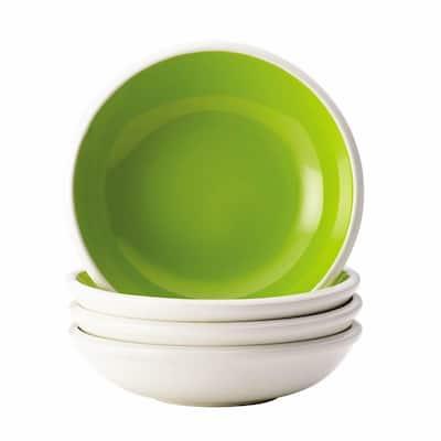 Dinnerware Rise 4-Piece Stoneware Fruit Bowl Set in Green