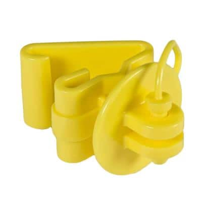 Yellow T-Post Pin Lock Insulator (25-Per Bag)