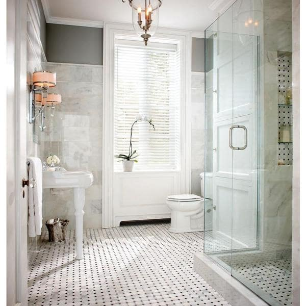 Msi Carrara White 12 In X 24 In Polished Marble Floor And Wall Tile 12 Sq Ft Case Tcarrwht1224 The Home Depot