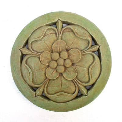Cast Stone Tudor Rose Stepstone Weathered Bronze