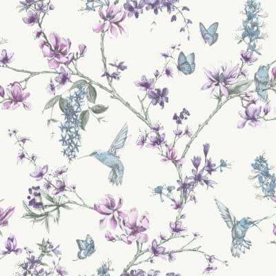 Pearl/Lilac Vinyl Strippable Wallpaper (Covers 56 sq. ft.)