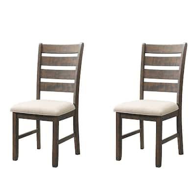 Dex Smookey Walnut Ladder Back Side Chair Set