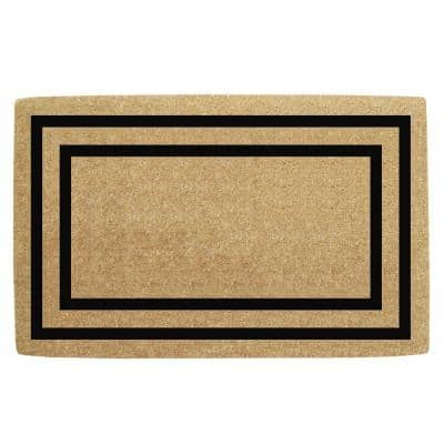 22 in. x 36 in. Heavy Duty Coco Black Thin Double Picture Frame, Plain Door Mat