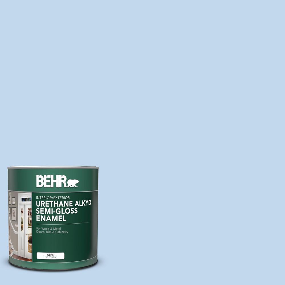 1 qt. #M520-2 After Rain Semi-Gloss Enamel Urethane Alkyd Interior/Exterior Paint