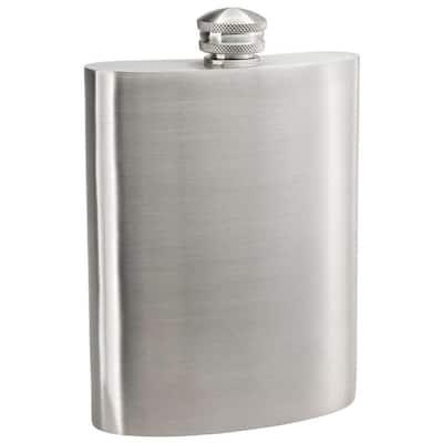 Gleam Satin Pewter Liquor Flask