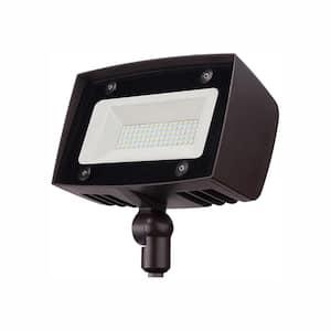 High-Output 350-Watt Equivalent Integrated Outdoor LED Flood Light, 5000 Lumens, Dusk to Dawn Outdoor Security Light