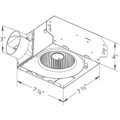Slim Series 70 CFM Wall or Ceiling Bathroom Exhaust Fan, ENERGY STAR