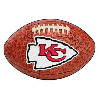 NFL Kansas City Chiefs Photorealistic 20.5 in. x 32.5 in Football Mat