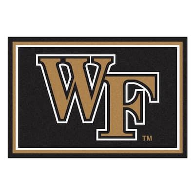 NCAA - Wake Forest University Black 8 ft. x 5 ft. Indoor Area Rug