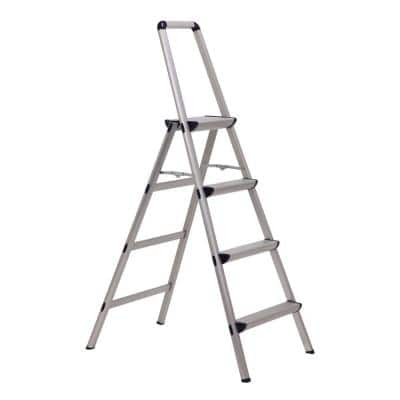 Ultra 4-Step Light Weight Aluminum Stool Folding Step Stool with Handle Type II 225 lbs. Duty Rating